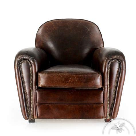 canapé cuir vintage pas cher fauteuil cuir marron havane saulaie