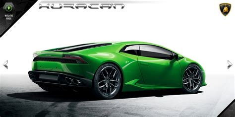 lamborghini opens huracan official website