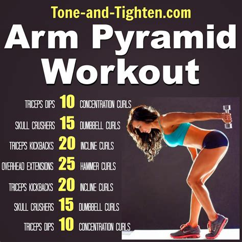 best workout arm pyramid workout the best exercises to tone and
