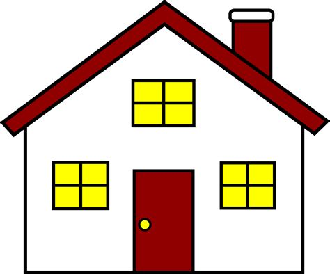 Charming Red And White House Free Clip Art