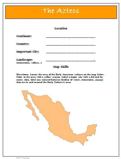 aztec map worksheet mayan worksheets new calendar template site