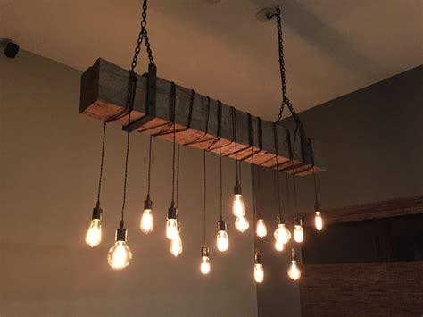 Beam Light Fixture Reclaimed Wooden Barn Beam Light Fixture With Brackets And