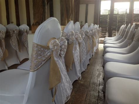 Lace Chair Sashes by Hessian Sashes A Table Runners From Chair Covers For