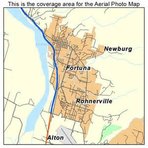 aerial photography map of fortuna ca california