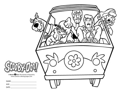 scooby doo coloring page