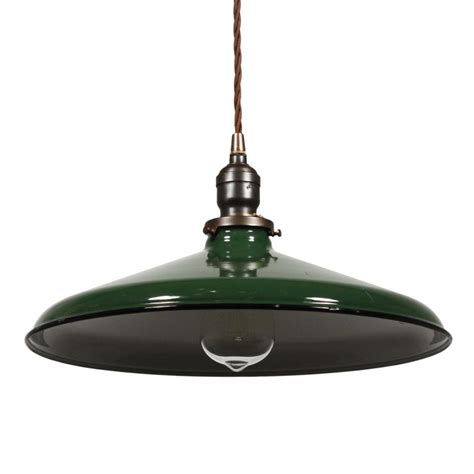 green pendant l shade antique industrial pendant light green enamel porcelain