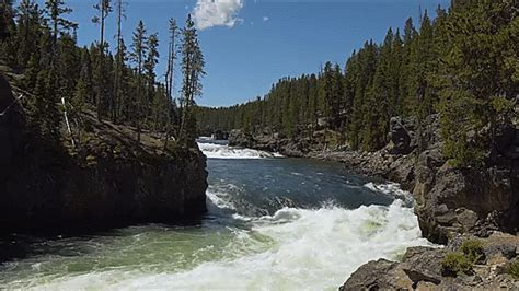 imagenes relajantes gif river yellowstone gif find share on giphy