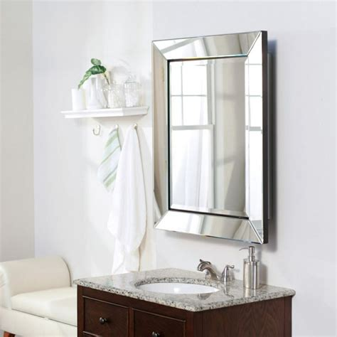 beveled mirror frame medicine cabinet bathrooms