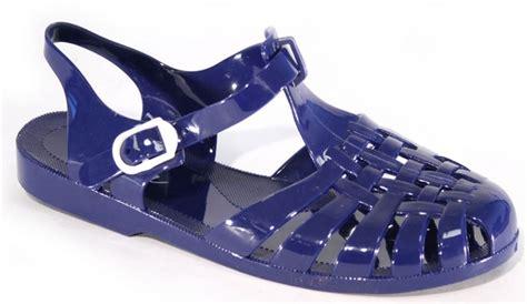 womens jelly sandal flat summer retro
