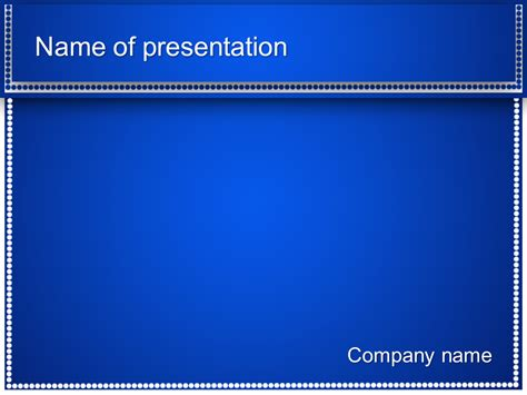 Download Free Blue Dots Powerpoint Template For Your Presentation Template