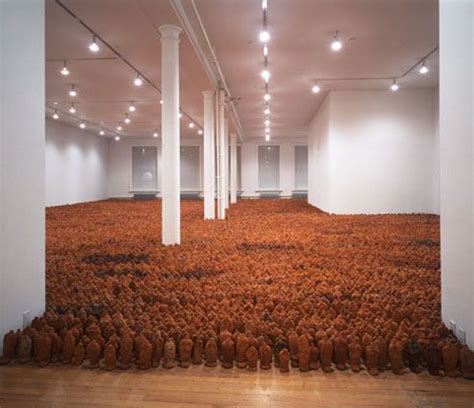 the earth room field terracotta figures by antony gormley daily icon