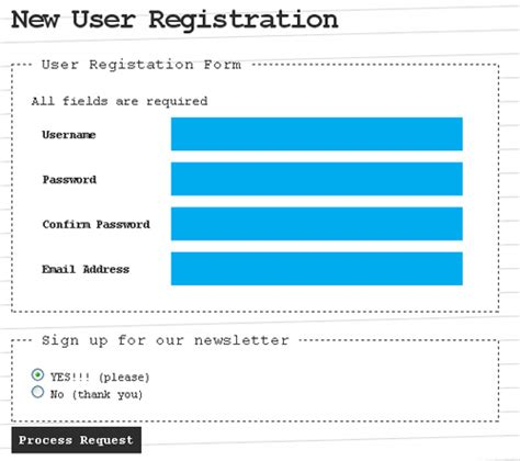design registration form in html tips for coding and designing usable web forms noupe