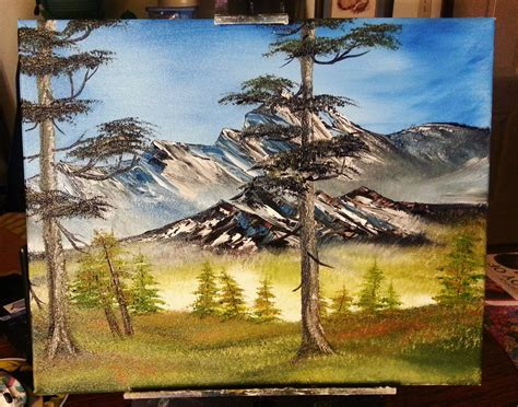 bob ross painting style bob ross style painting by lashink on deviantart