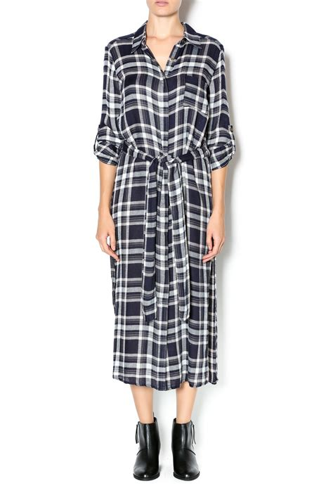 Daster Dress Midi Line e ssue plaid duster dress from new orleans by s shoptiques