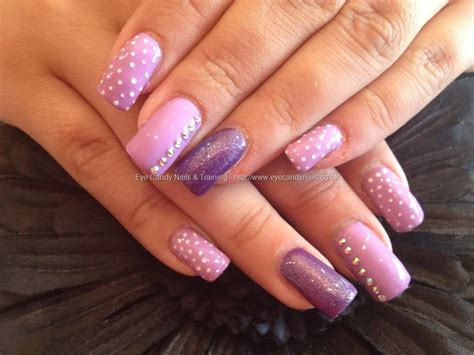eye candy nails amp training acrylic nails with purple