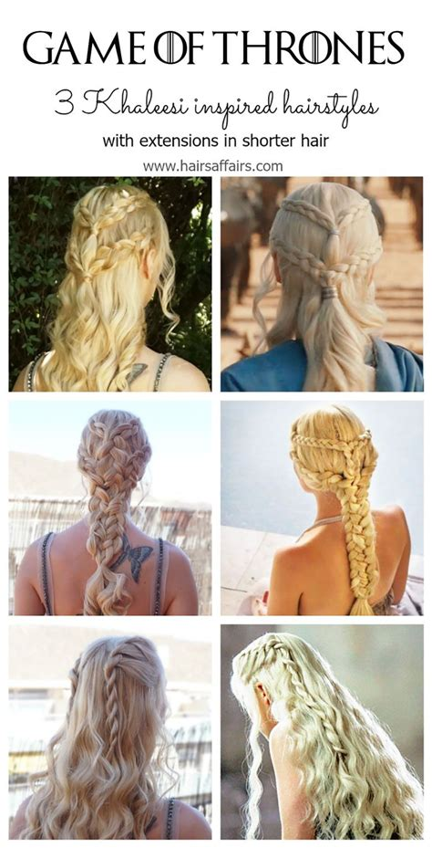 Hairstyle Of Thrones by Of Thrones Hair Tutorial With Extensions Hairsaffairs