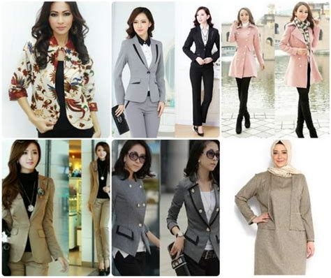 desain jas wanita terbaru desain model blazer wanita terbaru info tren baju