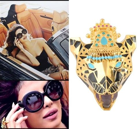 Get The Look Camerons Panther Ring by Get This Look Priyanka Chopra Wearing The Panther Enamel