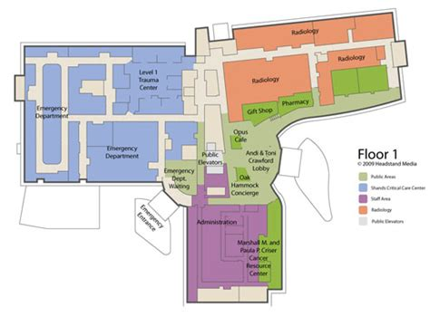 shands healthcare cus map and floor plans randal