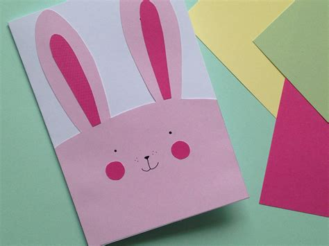 how to make a easter card how to make an easy bunny card hobbycraft