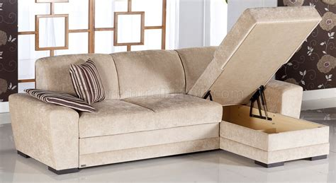 Sectional Sofas by Fabric Modern Sectional Sofa W Storage Space