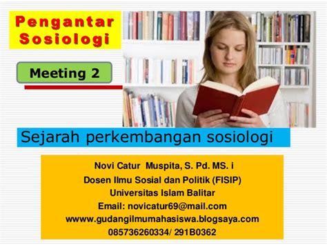 Sosiologi Islam pengantar sosiologi sejarah sosiologi meeting 2