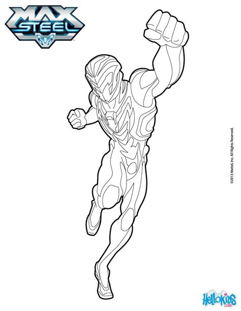 printing in coloring book mode max steel coloring pages hellokids