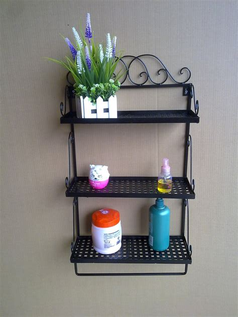 2014 Wrought Iron Bathroom Shelves Towel Rack Bathroom Bathroom Accessories Shelves