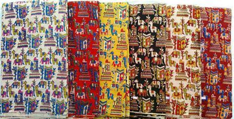 Maroon Curtains Kalamkari Fabric Kalamkari Silk Fabric Supplier Machilipatnam