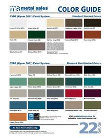 metal sales colors cold formed color charts bluestar steel buildings