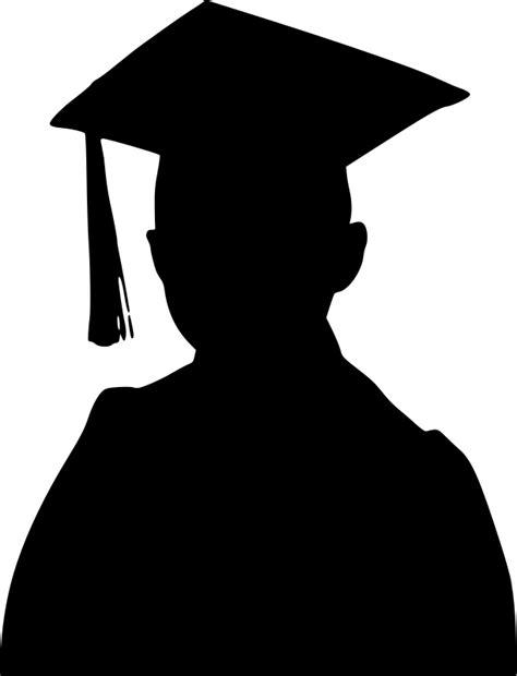 Siluet Wisuda Graduation Shioulette clipart graduation boy silhouette
