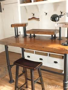 Diy Rustic Desk Industrial Style Desk Reveal 1 3 Vin Yet Etc Vin Yet Etc