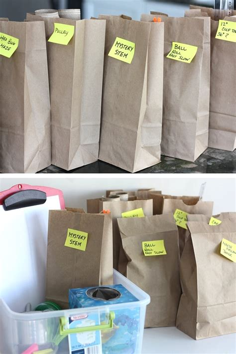 Paper Bag Ideas - paper bag stem challenges week with stem activities for