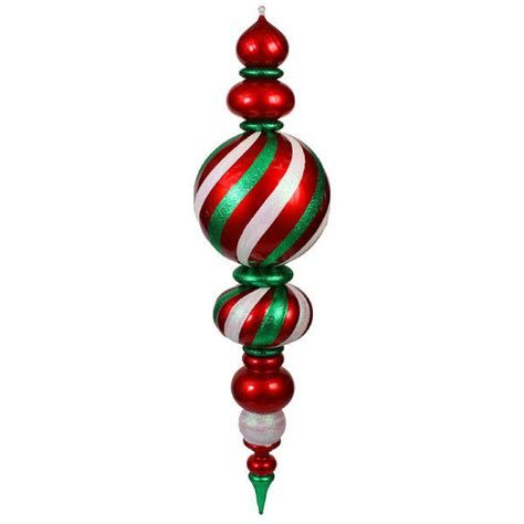 giant finial 62 in lighted christmas ornament