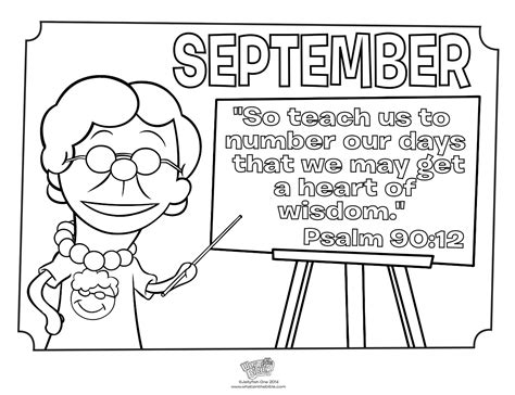 september free coloring pages