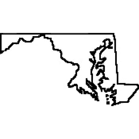 maryland map clipart clip st cliparts co