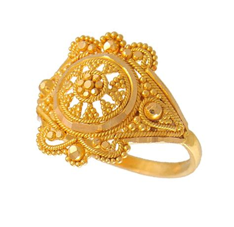 Indian Gold Ringse indian filigree ring 22k gold rilg4668 22kt gold
