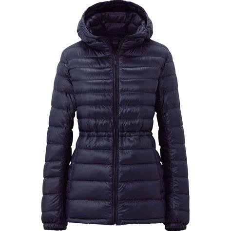 uniqlo women ultra light down parka uniqlo women premium down ultra light parka in blue navy