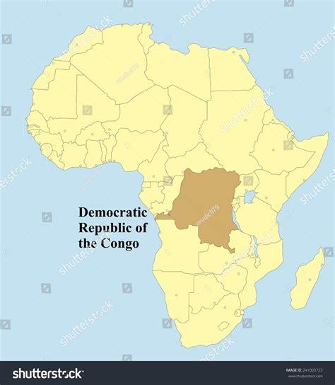 africa map democratic republic of the congo vector map of democratic republic of the congo in africa