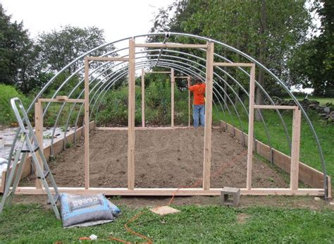 hoop house greenhouse plans the knittin kitten garden construction project building a hoop house part 1
