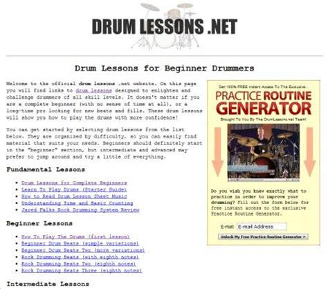 drum tutorial lesson one 5 free drum lessons websites