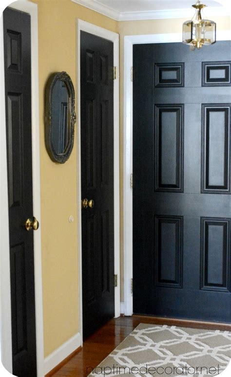 Paint Interior Doors Black Back And And S Painting Black Interior Doors