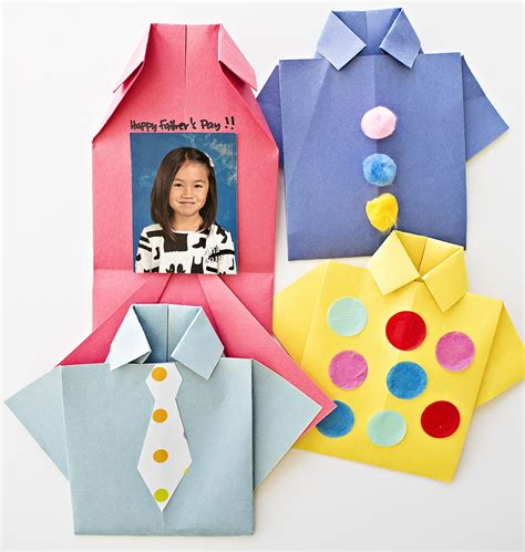 Origami Day - hello wonderful easy origami shirt s day card