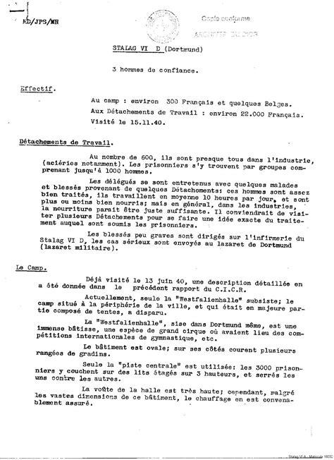 Stalag VI D de Dortmund – Chapitre 2 : Sources – Situation