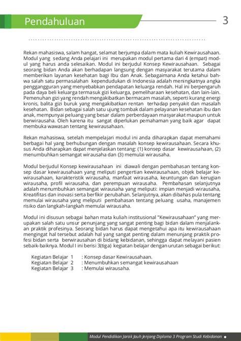 Modul Mata Kuliah Konsep Kebidanan kb 1 konsep dasar kewirausahaan