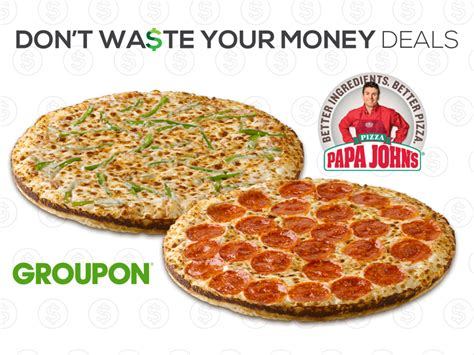 Papa John S Gift Card Deal - hot groupon deal two free papa john s pizzas with gift card purchase dwym
