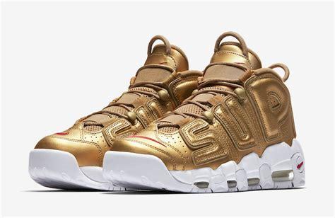 Nike Uptempo X Supreme Gold Premium le supreme x nike air more uptempo pack sortira sur nikelab le site de la sneaker