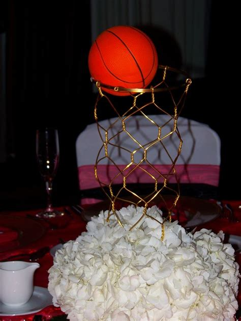 Basketball Themed Birthday Decorations by Basketball Theme Centerpiece Ideas