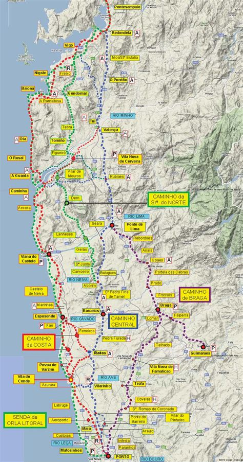 camino pilgrimage map great camino portugues resource downloadable maps and