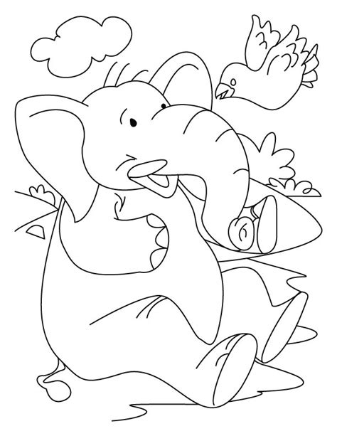 elephant head tattoo coloring pages